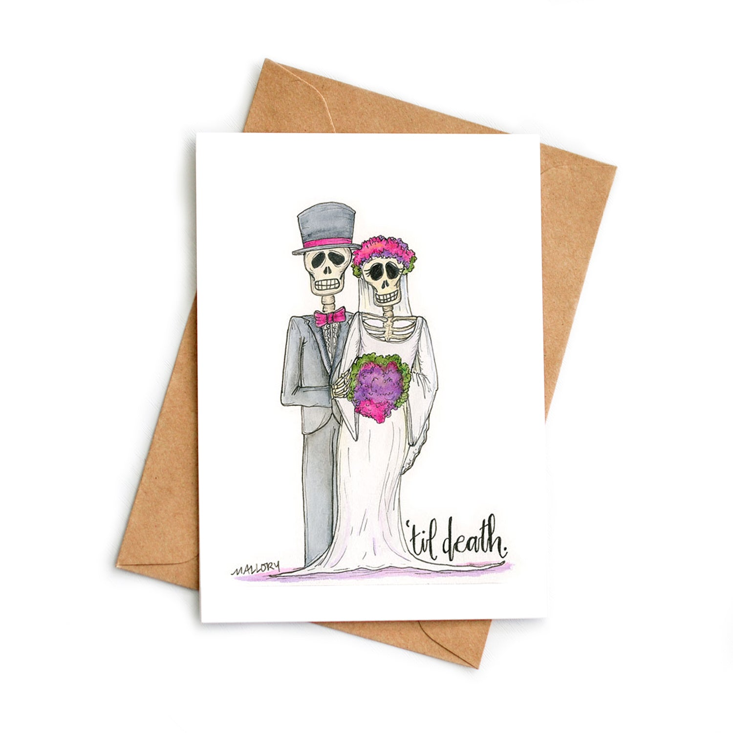 'Til Death Wedding Card