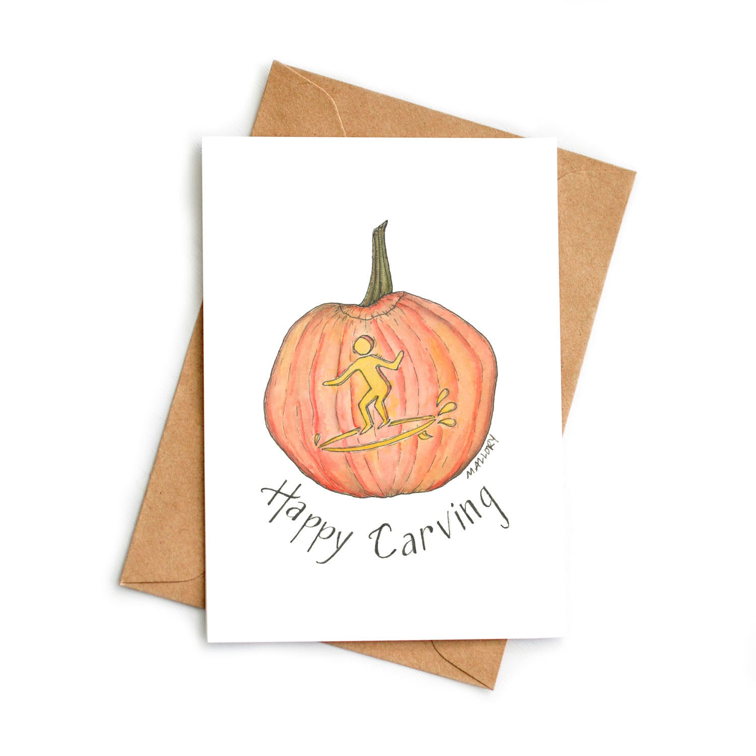 Happy Carving Halloween Card