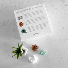 Load image into Gallery viewer, Happy Birthday CAPRICORN Crystal Gift Set (Dec 22 - Jan 21)