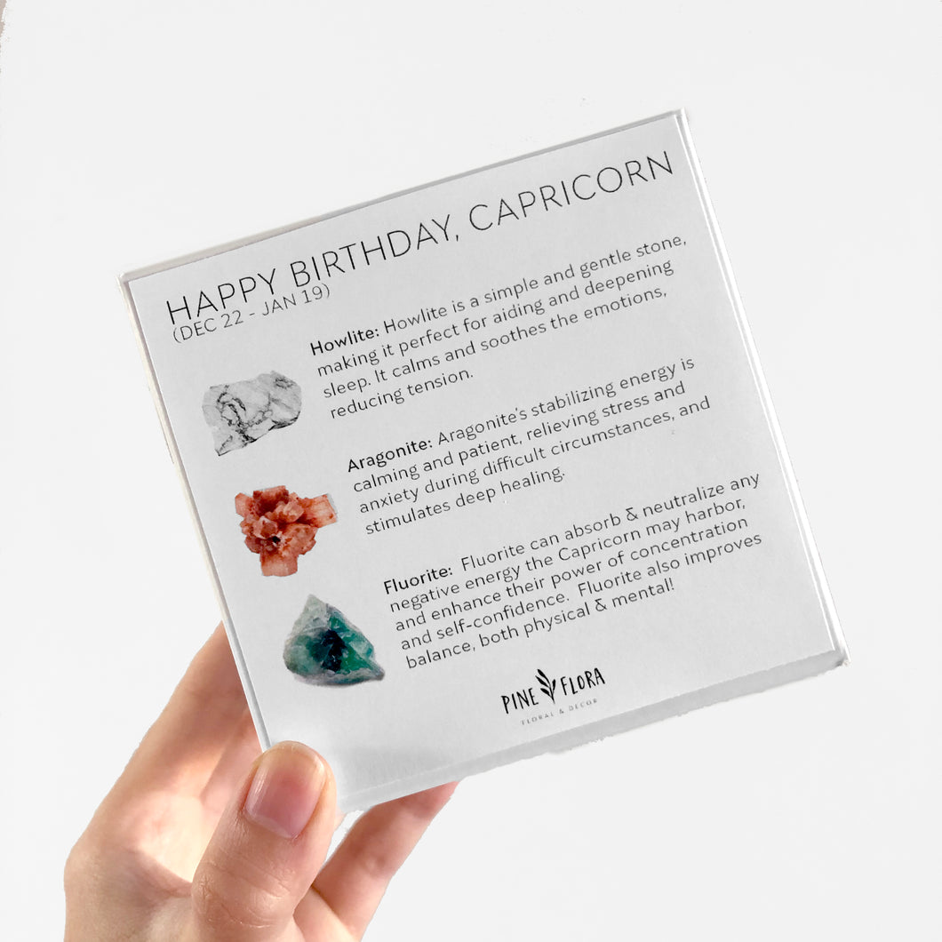 Happy Birthday CAPRICORN Crystal Gift Set (Dec 22 - Jan 21)