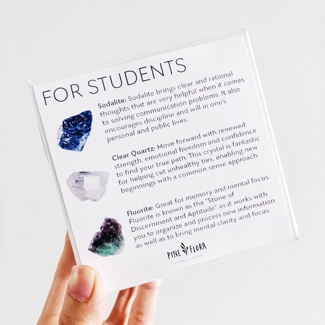 STUDENT Crystal Gift Set ($60 value)