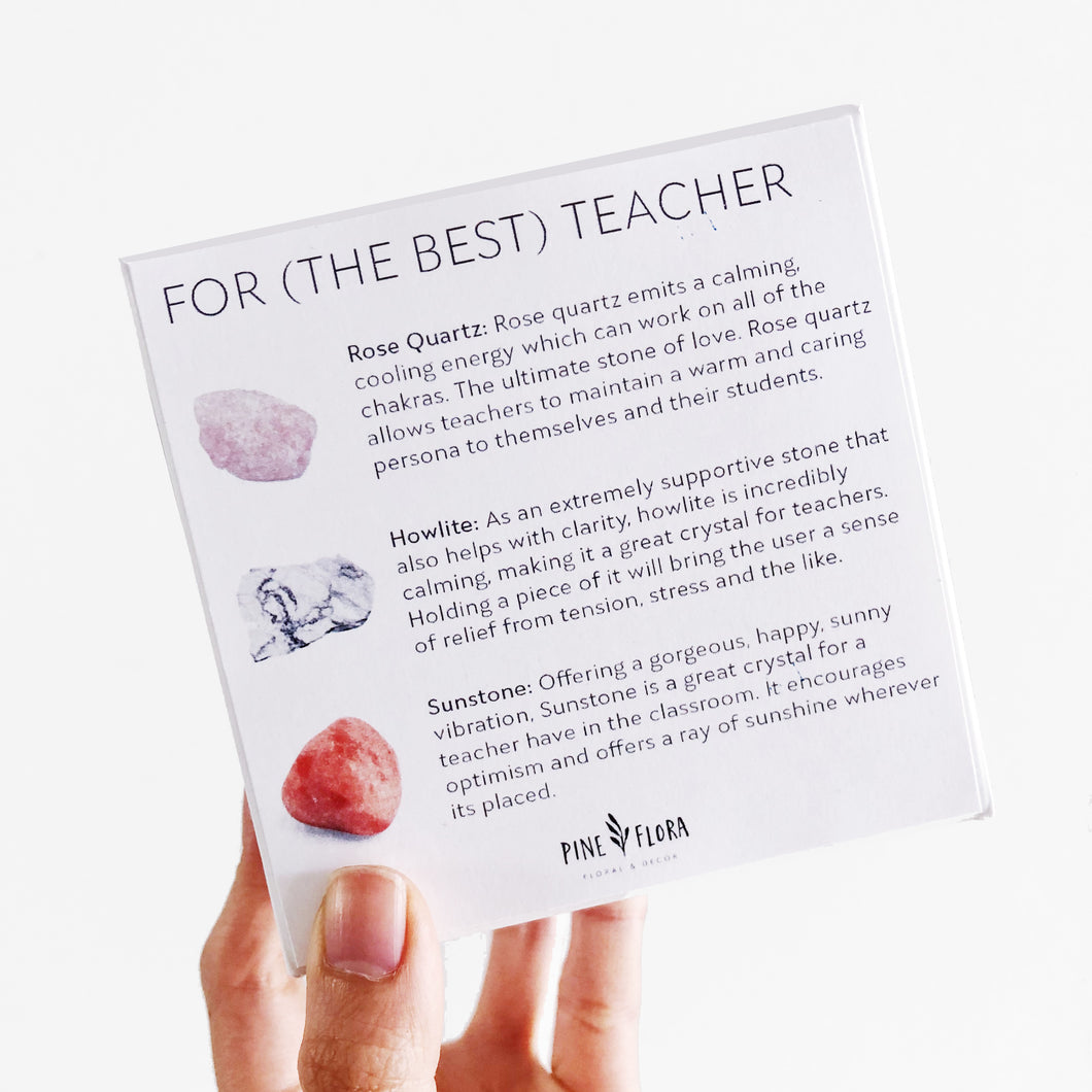 TEACHER Crystal Gift Set ($60 value)