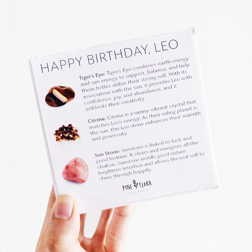 Happy Birthday LEO Crystal Gift Set (July 22 - Aug 22)