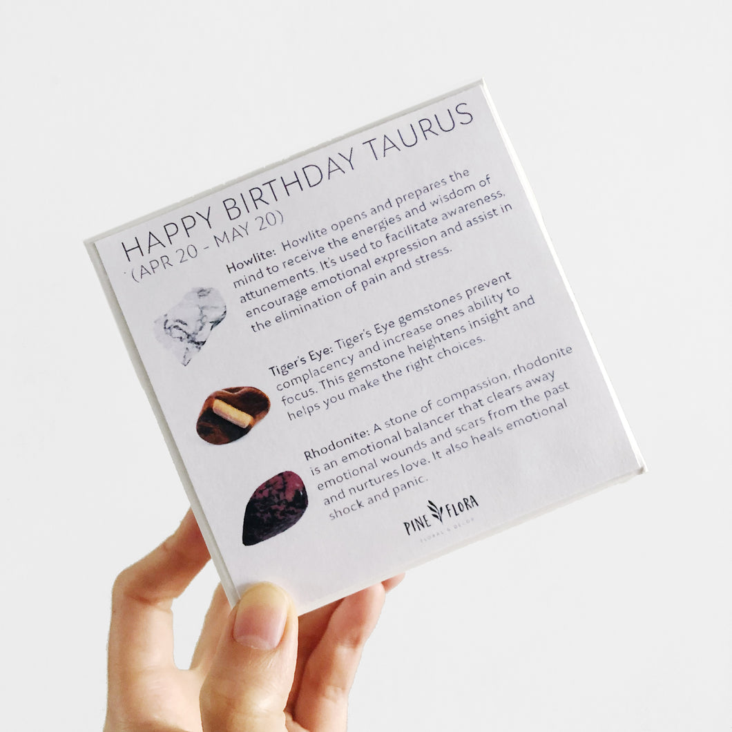 Happy Birthday TAURUS Crystal Gift Set (Apr 20 - May 20)