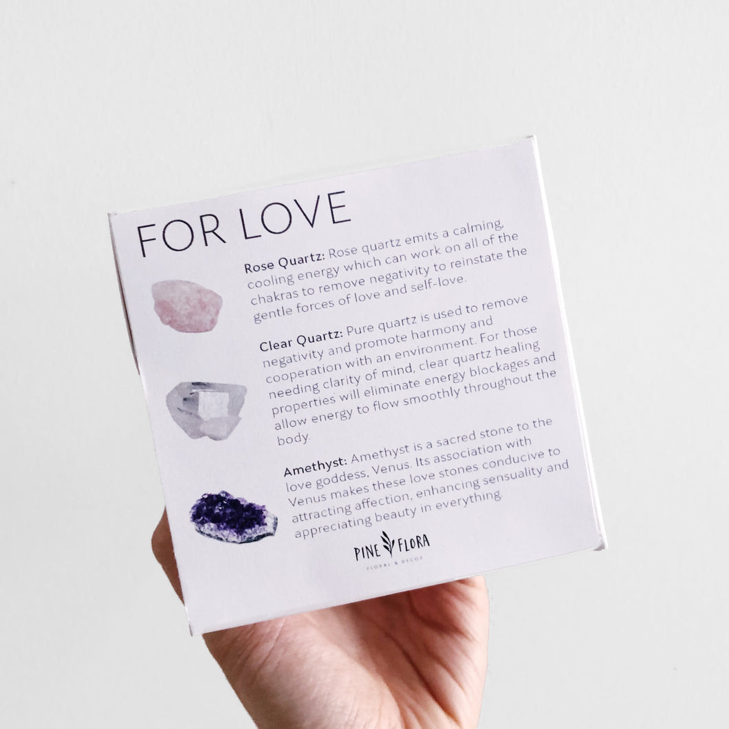 LOVE Crystal Gift Set ($60 value)