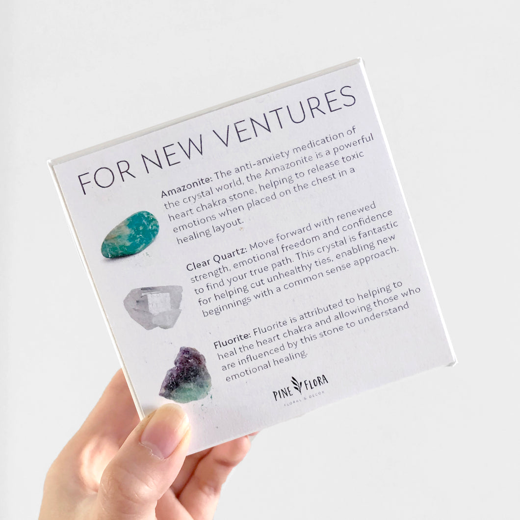 NEW VENTURES Crystal Gift Set ($60 value)