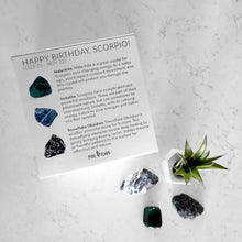 Load image into Gallery viewer, Happy Birthday SCORPIO Crystal Gift Set (Oct 23 - Nov 22)
