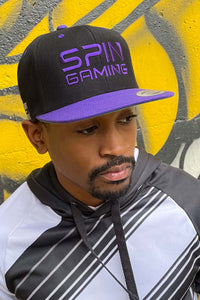 Leeroy Snapback Hat (Black/Purple)