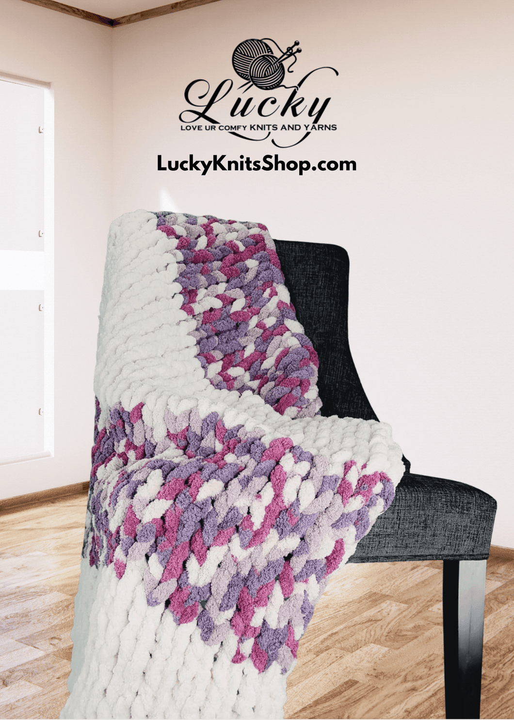 Icy Plum Throw/Blanket Blankets Luckyknitsshop Lapghan 36