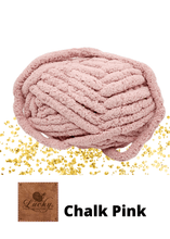 "Load image into Gallery viewer, Hand Knit Chunky Yarn Cushion Pink Home Décor Luckyknitsshop Small 16"" x 16"" Chalk Pink"