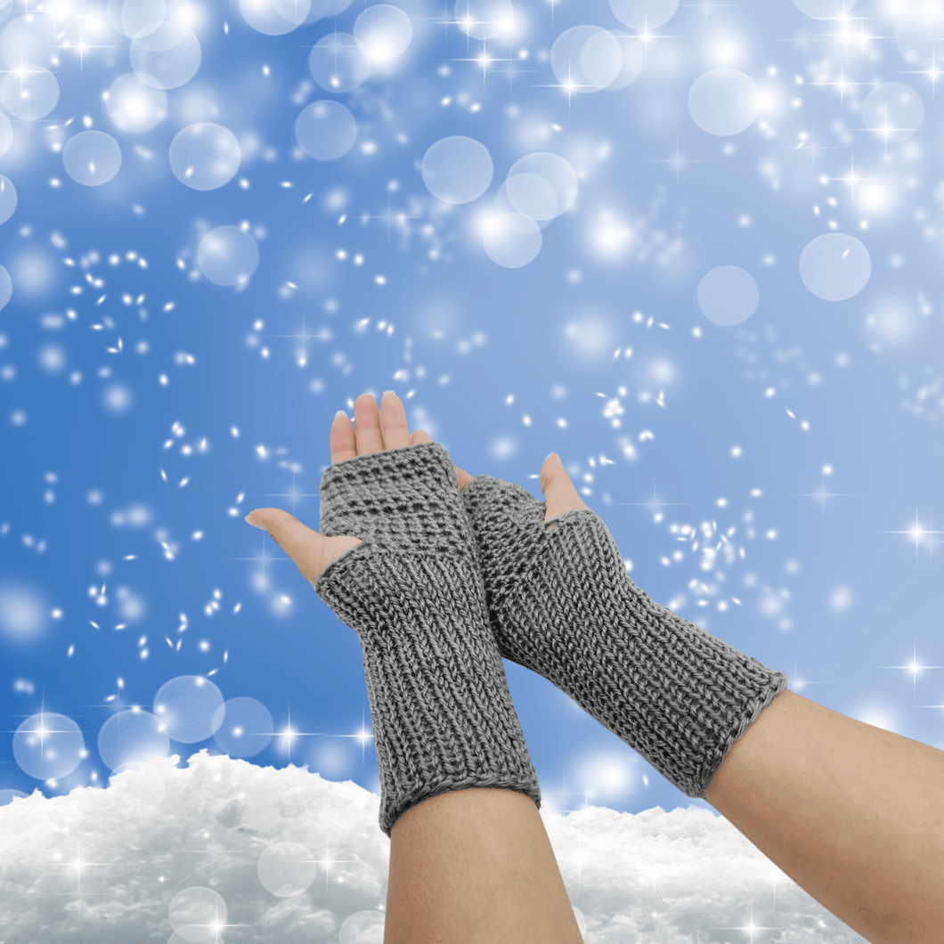 Hand Knit Gloves - Fingerless Gloves Luckyknitsshop