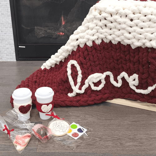 Cozy Love Hand Knit Chunky Blanket Blankets Luckyknitsshop