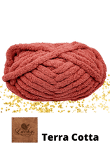 "Load image into Gallery viewer, Hand Knit Chunky Yarn Cushion Pink Home Décor Luckyknitsshop Small 16"" x 16"" Terra cotta"