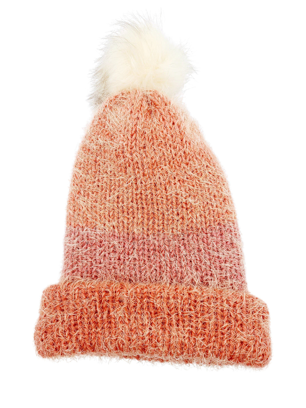 Beanie Hand Knit Hat- Pumpkin Pie Softie Luckyknitsshop