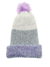 Load image into Gallery viewer, Beanie Hand Knit Hat- Majestic Purple Softie Luckyknitsshop