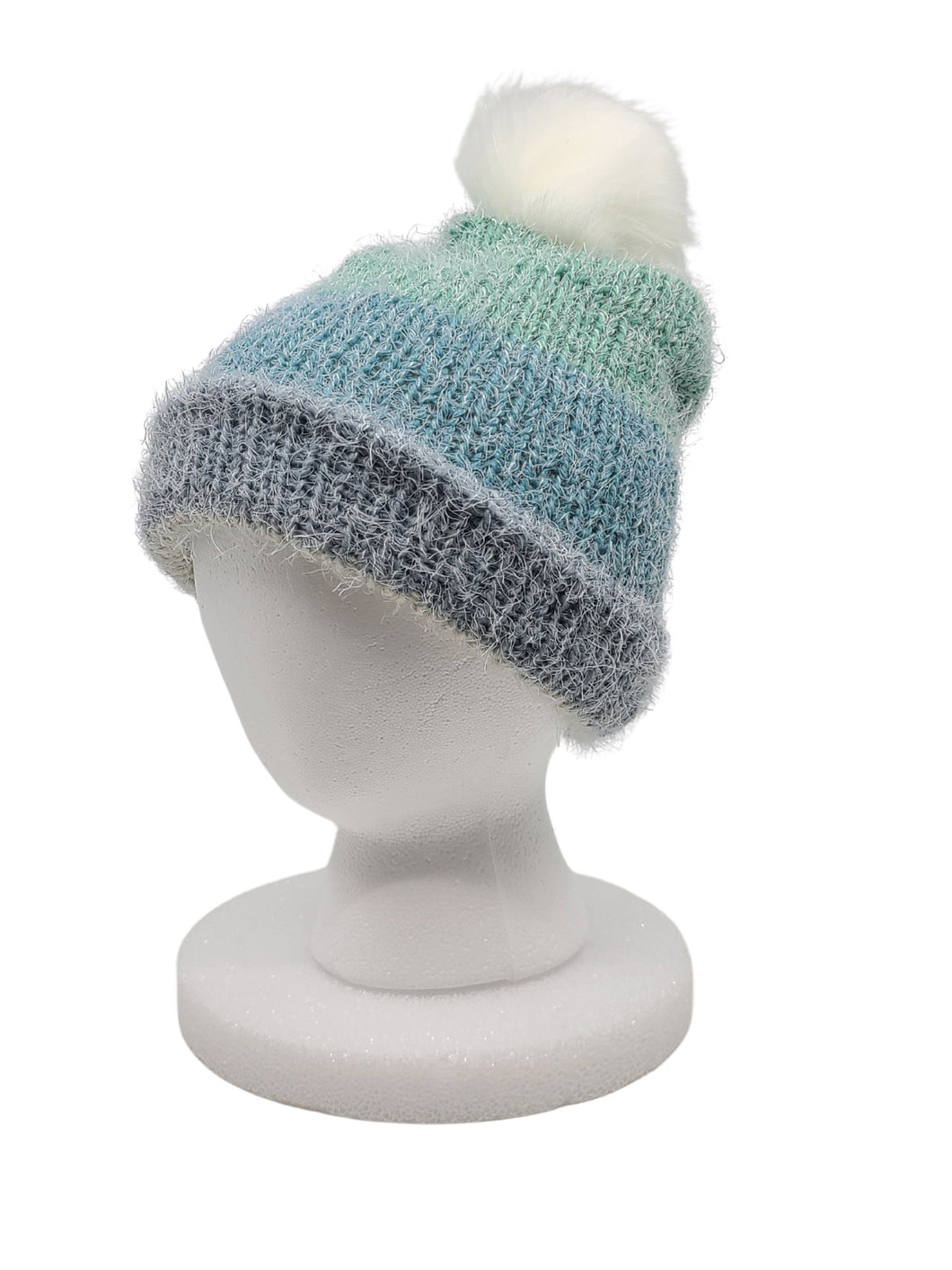 Beanie Hand Knit Hat- Teal Dreams Softie Slouchy Beanies Luckyknitsshop