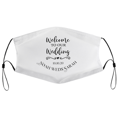 Welcome to our wedding - Personalised Wedding Masks