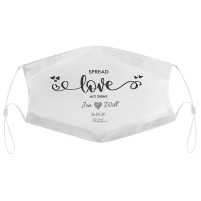 Spread Love Not Germs - Personalised Wedding Masks