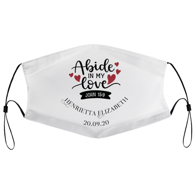Abide in my love - Personalised Wedding Masks