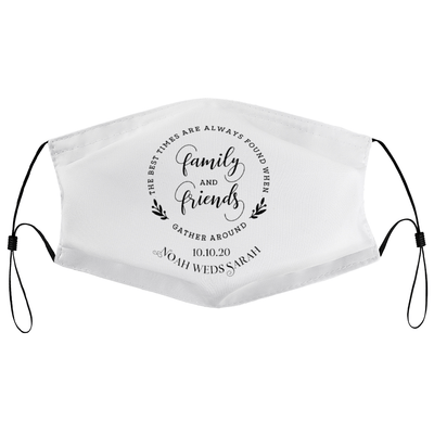 With family & friends - Personalised Wedding Masks