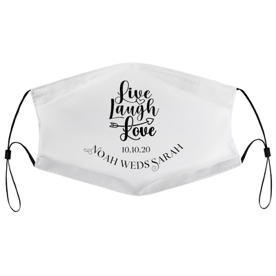 Live, Laugh, Love - Personalised Wedding Masks