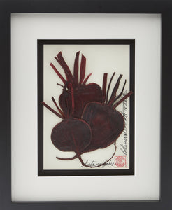 'Red Beets Vegetable Shadow Box' by Botanical Art by Diane De Roo