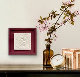 "'Framed Botanical Cast - Dusty Rose"" by Botanical Art by Diane De Roo"