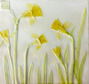'Daffodil Hand Painted Botanical Cast' by Botanical Art by Diane De Roo