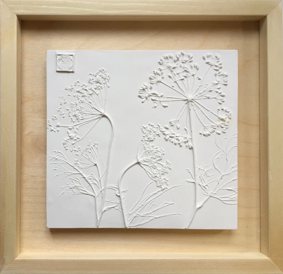 'Framed Botanical Cast - Natural Wood' by Botanical Art by Diane