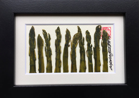 'Mini Asparagus Vegetable Frame' by Botanical Art by Diane De Roo