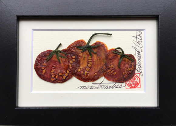 'Mini Tomato Frame' by Botnaical Art by Diane De Roo