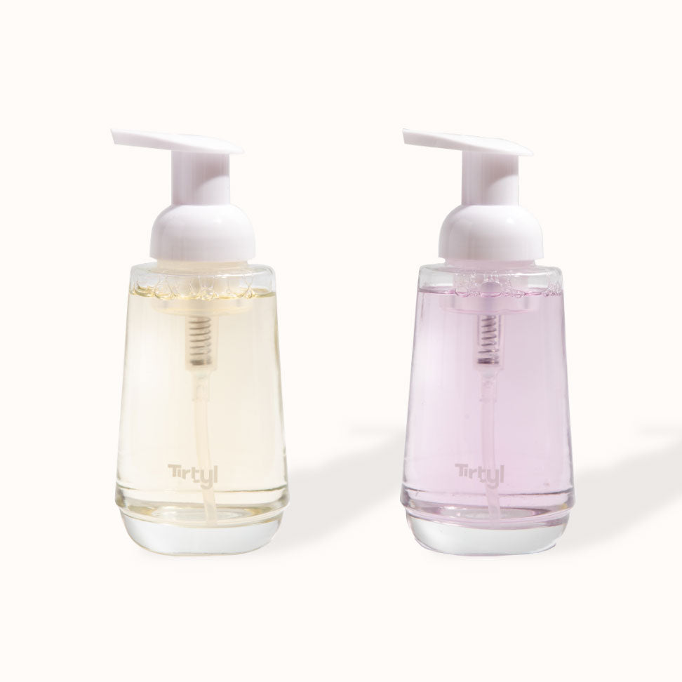 Tirtyl Weighted Glass Foaming Hand Soap Dispensers