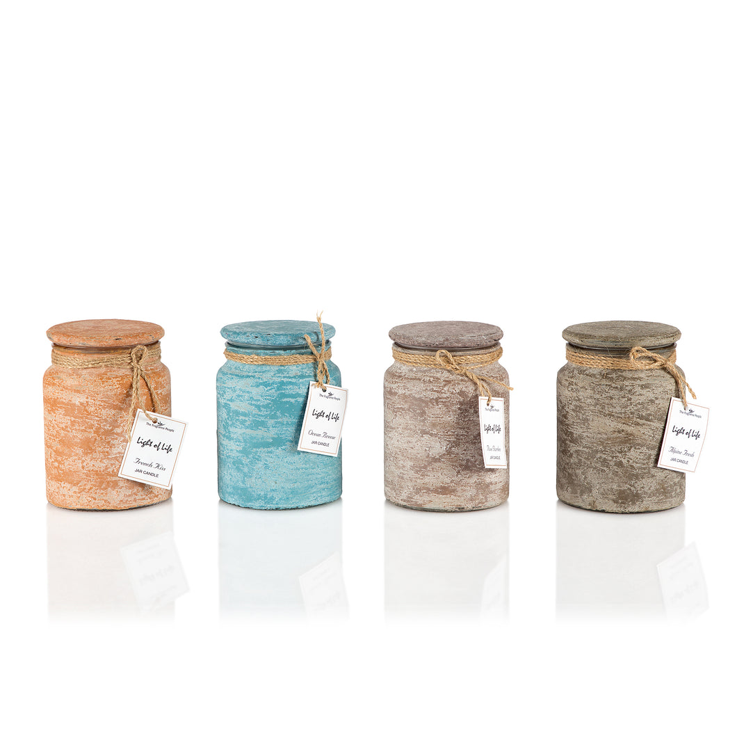 RUSTIC CLAY FINISH CANDLES