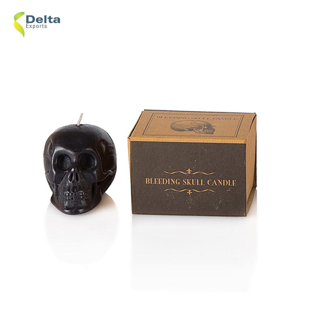 DECORATIVE SMALL SKULL CANDLE