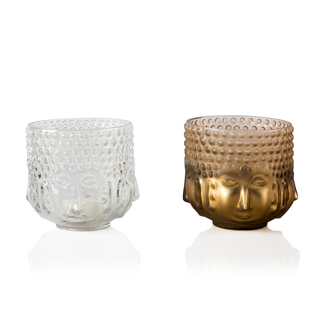 DECORATIVE BUDDHA GLASS CANDLE