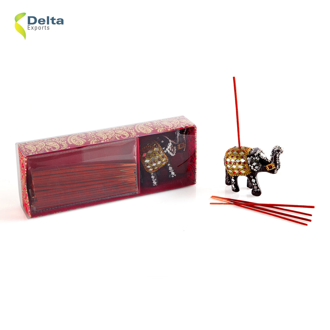 INCENSE GIFT SET WITH ELEPHANT LAC HOLDER