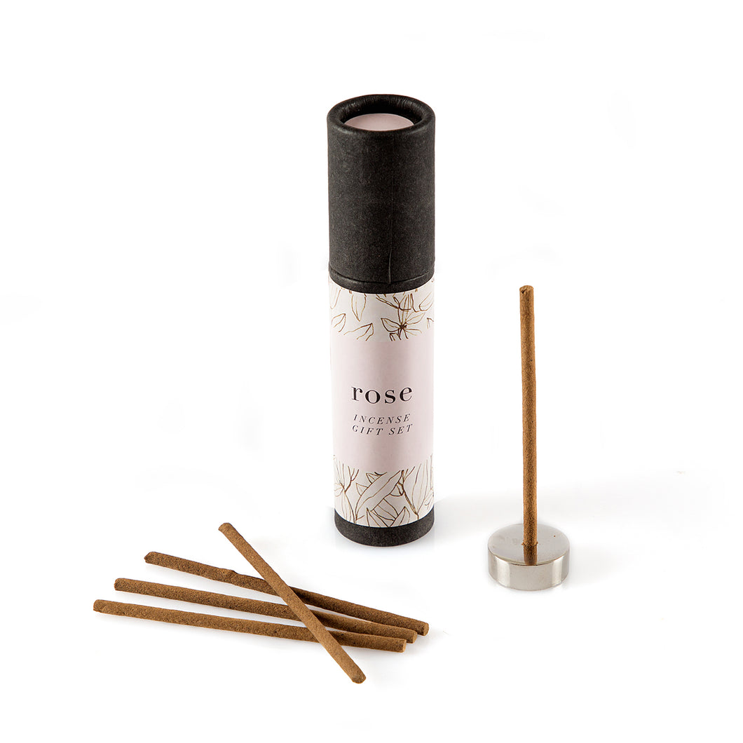 MINI INCENSE TUBE WITH METAL HOLDER