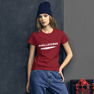 Sober Not Sorry #HELLASOBER Collection Women's short sleeve t-shirt - Independence Red
