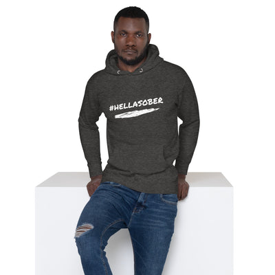 Sober Not Sorry #HELLASOBER Collection Unisex Hoodie - Charcoal Heather