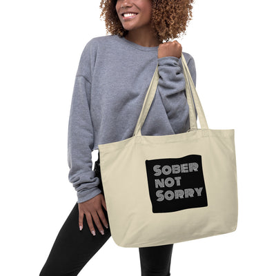 Sober Not Sorry - MultiBlack Sober not Sorry Collection Large organic tote bag
