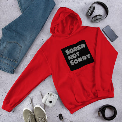 Sober Not Sorry - MultiBlack Sober Not Sorry Collection Unisex Hoodie - Red