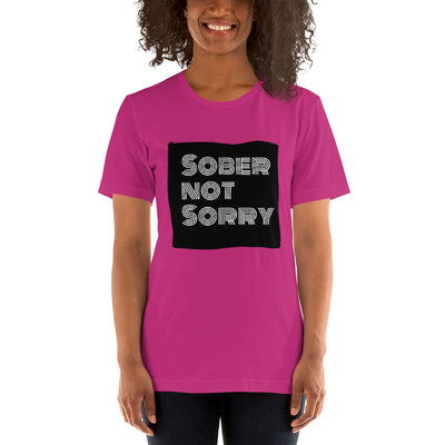 Sober Not Sorry - MultiBlack Sober Not Sorry Collection Short-Sleeve Unisex T-Shirt - Berry