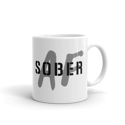 Sober Not Sorry SOBER AF Collection BLK Mug - 11 oz