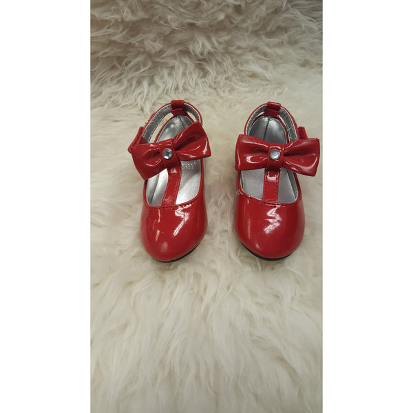 Gymboree Red Patton Mary jane Shoes with Bow Size 4 - Swank Baby Boutique