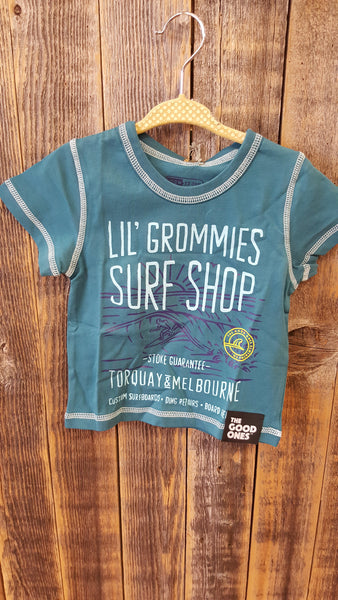 The Good Ones Clothing Co. Blue Surf Shop Shirt - Swank Baby Boutique