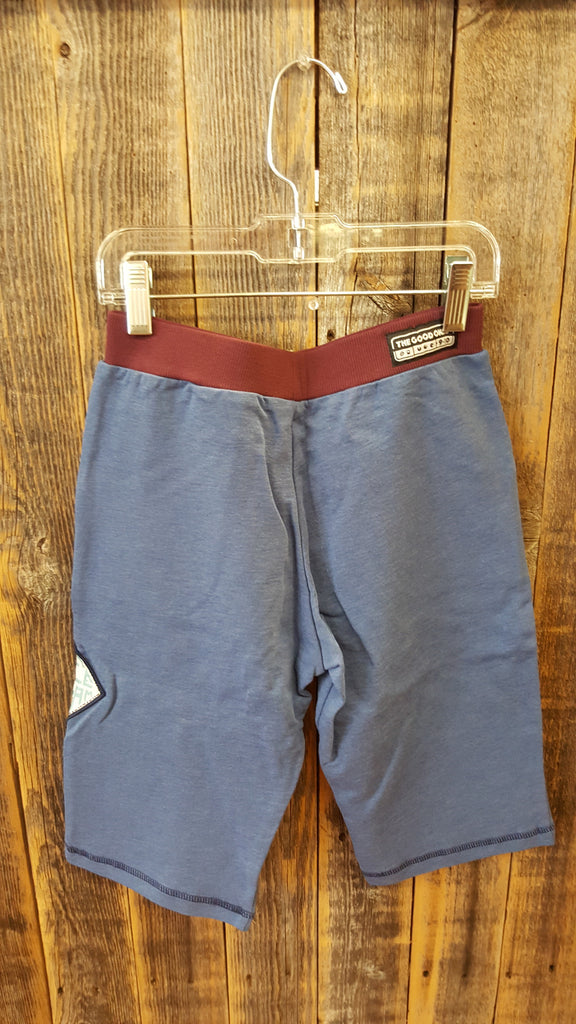 The Good Ones Clothing Co. Blue & Burgundy Cargo Shorts Size 9-10y - Swank Baby Boutique