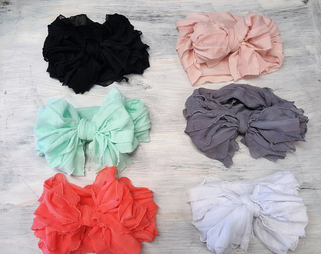 Sash headband bow - Various Colors