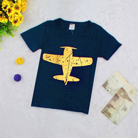Navy Airplane Tshirt