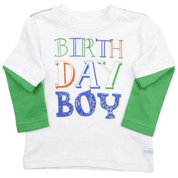 Ruggedbutts Birthday Boy Tee - Various Sizes - Swank Baby Boutique