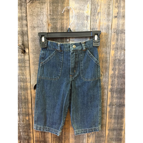 Laura Ashley Blue Jeans Size 12m - Swank Baby Boutique